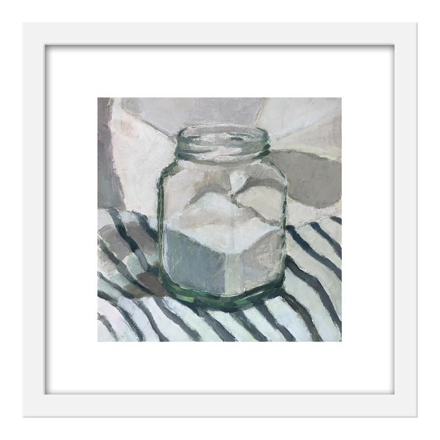 "Small ""Sugar Jar on Stripes"" Print by Caitlin Winner, 15"" X 15"" For Sale"