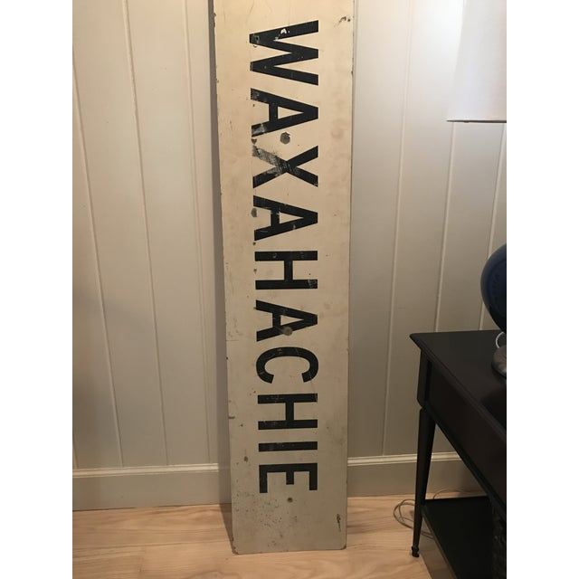 Large Vintage Industrial Metal South Waxahachie, Texas Sign - Image 3 of 8