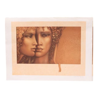 """Jean Paul Cleren Limited Edition Lithograph-""""Double Visage""""-Pencil Signed/Numbered For Sale"""