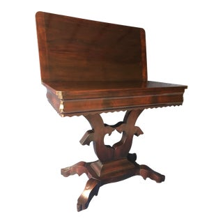 Traditional Swivel Top Mahogany Game Table For Sale