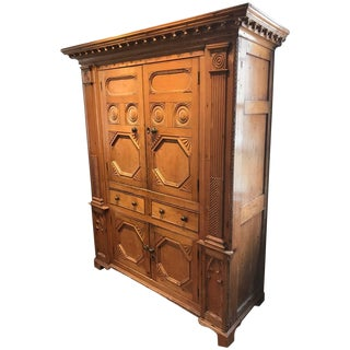 19th Century Neoclassical Revival Irish Pine Cabinet For Sale