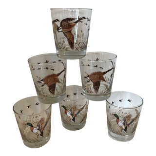 Game Bird Low Ball Cocktail Glasses - Set of 6 For Sale