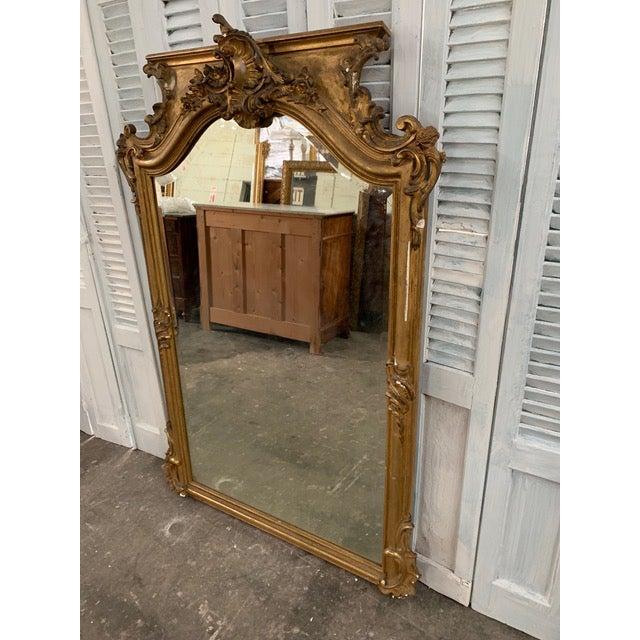 18th Century Grand Napoleon III Wall Mirror For Sale - Image 4 of 11
