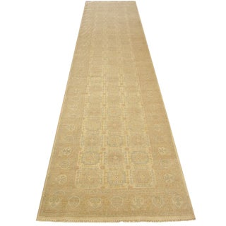 Shiraz - Handwoven Peshawar Pak Runner Rug - 3'×13'4'' For Sale