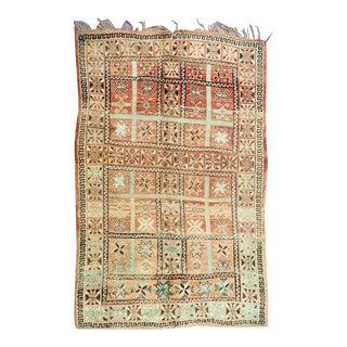 Vintage Moroccan Boujad Rug- 6′3″ × 7′6″ For Sale