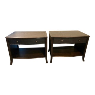 McGuire Barbara Barry Caned Nightstands - A Pair For Sale