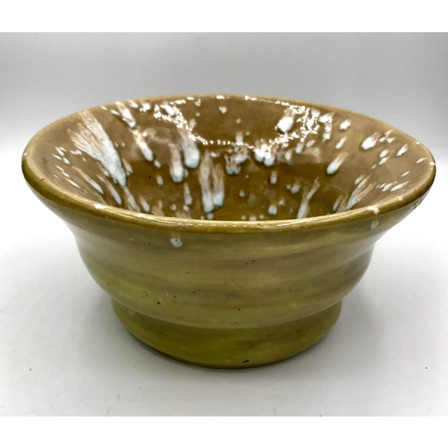 Modern Speckled Signed Studio Pottery Bowl For Sale In New York - Image 6 of 10
