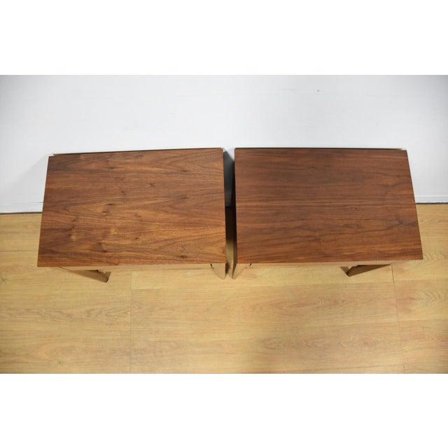 Mid-Century Walnut Nightstands - A Pair - Image 4 of 8