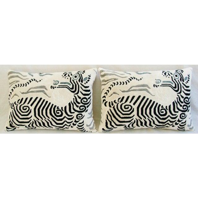 Clarence House Tibet Dragon Fabric Pillows - Pair - Image 3 of 11