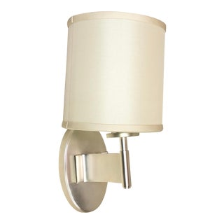 Visual Comfort Graceful Ribbon Wall Sconce in Soft Silver For Sale