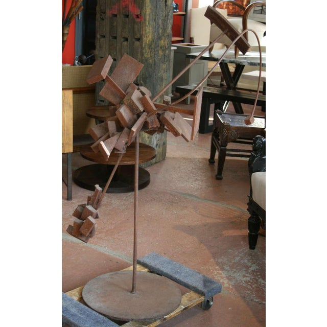 Bronze Bertoia Style Sculpture For Sale - Image 8 of 8