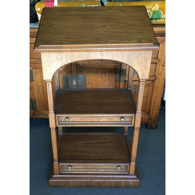 Walnut Dalton Coles Lectern Podium Lift Top Book Stand For Sale - Image 7 of 7