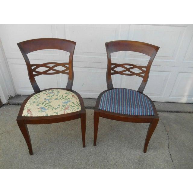 Vintage Baker Furniture Biedermeier Fruitwood Dining Chairs - A Pair - Image 2 of 7
