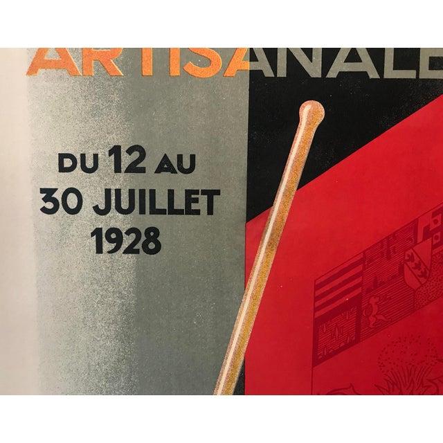 1928 Original French Art Deco Poster, Paul Colin, Exposition De Nancy (Large) For Sale - Image 4 of 9