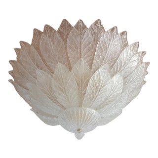 Barovier Large Mid Century Modern Flush Mount Chandelier, Italy 1960s For Sale