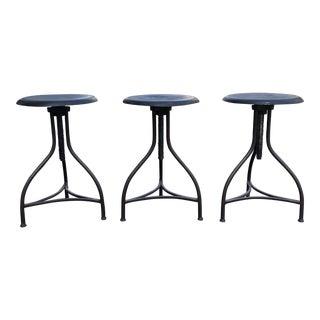 Adjustable Modern / Industrial Style Barstools - Set of 3 For Sale