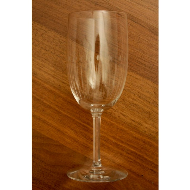 Etched Crystal Wine Glasses From Sweden - Set of 12 - Image 6 of 8