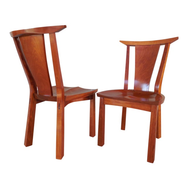 Thos. Moser Cherry Edo Dining Chairs - A Pair - Image 1 of 6