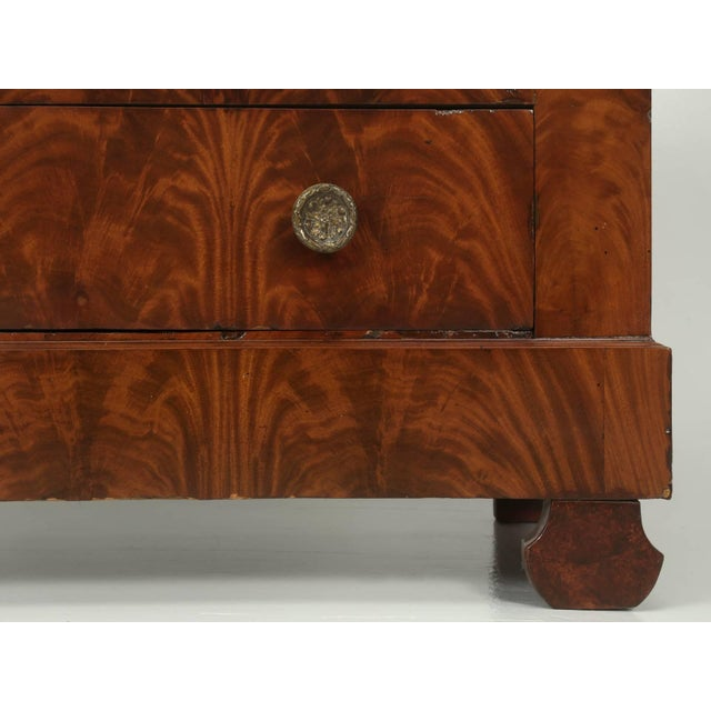 Antique French Commode in Mahogany With Exquisite Hardware For Sale - Image 9 of 10