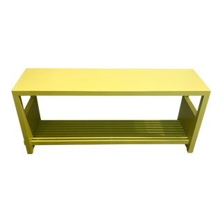 Citrus Lacquered Console Table For Sale