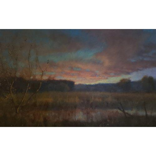 "Impressionist Chris Burkholder ""Avery Bottom"" Oil Painting For Sale - Image 3 of 3"
