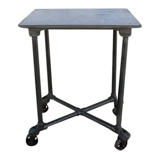 """Industrial Steel """"Turtle"""" Table with Removable Top For Sale"""