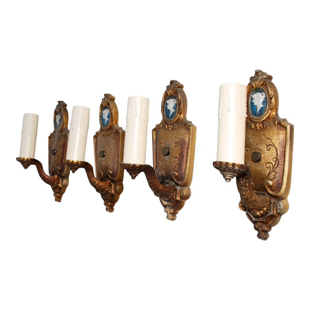 1920s Sconces - Set of 4 For Sale