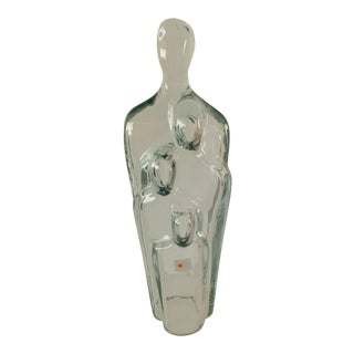 "Blenko Glass Sculpture ""Family of Man"" by Don Shepherd For Sale"