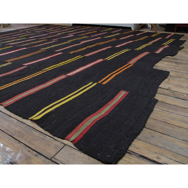 Islamic Large Kilim with Bright Stripes For Sale - Image 3 of 9
