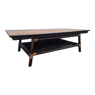 Vintage Rattan Coffee Table For Sale