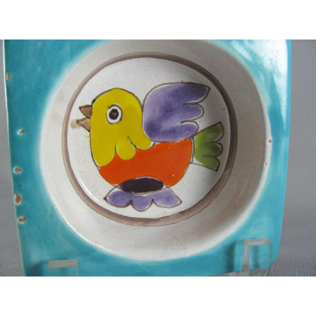 1960s 1960s DeSimone Hand Painted Bird Wine Bottle Coaster For Sale - Image 5 of 12