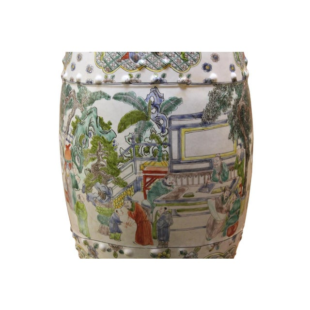 Chinese Porcelain Garden Stool with Scenery - Image 7 of 10