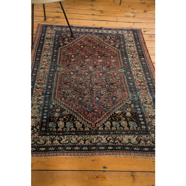 "Vintage Persian Malayer Rug - 3'8"" X 5'6"" For Sale - Image 5 of 8"