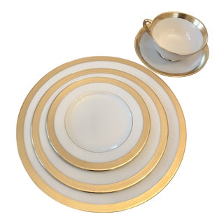 1950s Lenox Lowell Place Setting - Set of 5 For Sale