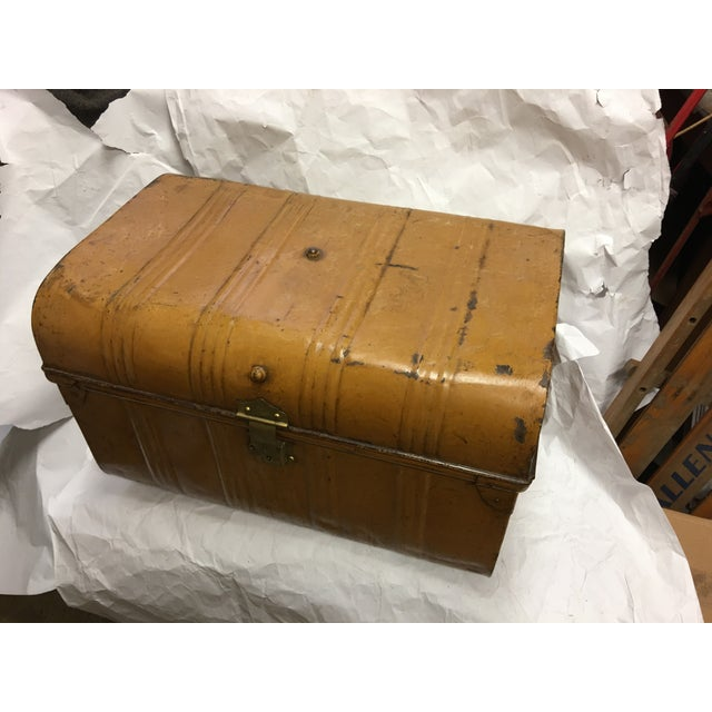 Old Victorian English Tin Trunk - Image 2 of 6