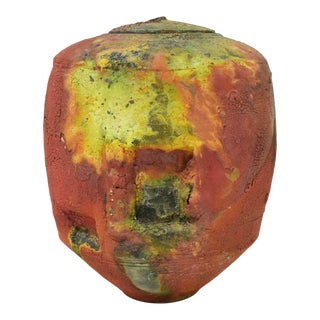 Kris Cox Ceramic Vessel Signed and Dated 1981 For Sale