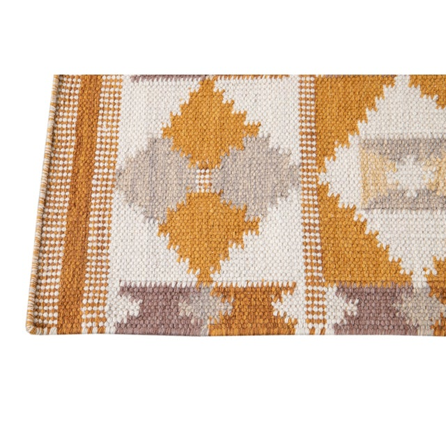 Textile 21st Century Modern Swedish-Style Wool Runner Rug For Sale - Image 7 of 12