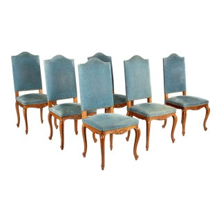 French Louis XV Style Dining Chairs - Set of Six For Sale
