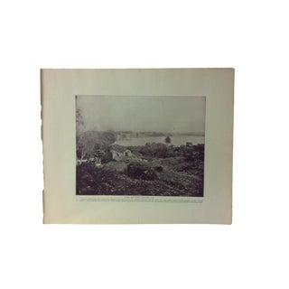 "Antique Glimpses of India Print, ""Lake and Fort - Saugor"", Circa 1890 For Sale"