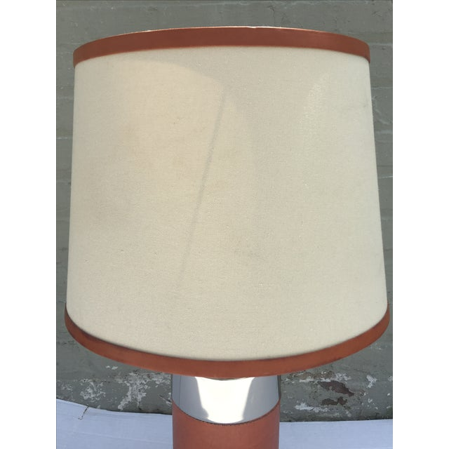 Ralph Lauren Home Chrome & Leather Accent Lamp - Image 4 of 7