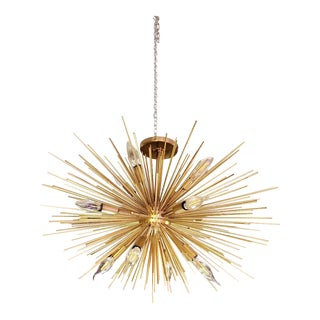 Vintage Zanadoo Fixed Chandelier in Antique Brass by Arteriors For Sale