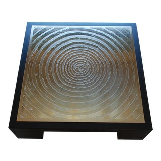 Christian Heckscher Hand Etched Coffee Table For Sale
