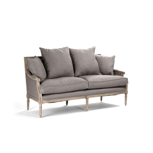French Country Audley Sofa in Gray For Sale - Image 3 of 5