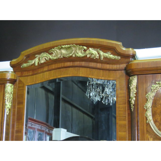 Regency Style Inlaid Armoire For Sale - Image 4 of 13