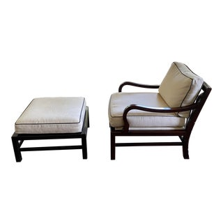Laura Kirar for Baker Muji Lounge Chair and Ottoman For Sale