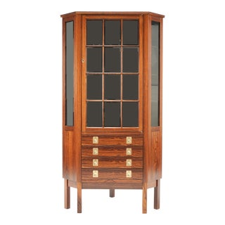 Bruksbo for Mellemstrand Rosewood Corner Cabinet For Sale