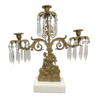 Early 19th-Century French Crystal Girandole For Sale