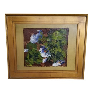 Contemporary Botanical Oil Painting, Framed For Sale
