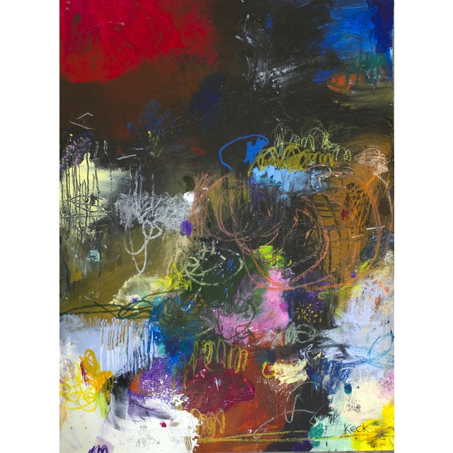 Michel Keck Original Abstract Painting - Image 2 of 2