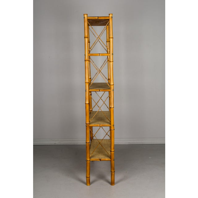 Mid-Century French Bamboo & Rattan Etagere For Sale In Orlando - Image 6 of 11